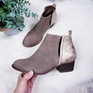Altar'd state taupe cutout Hudson booties